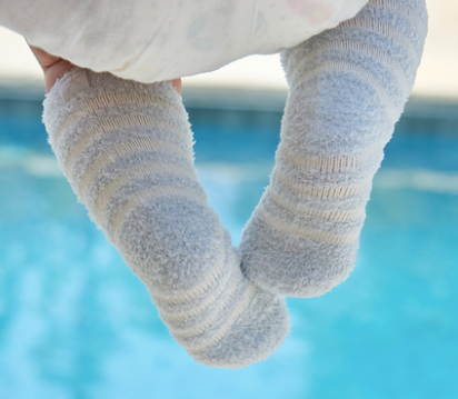 Barefoot Dreams Infant Socks Blue/Pearl