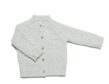 Barefoot Dreams Infant Heathered Cardi Blue/White Medium