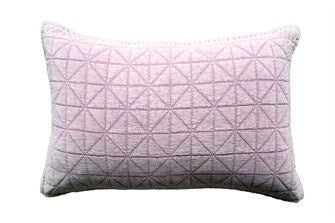 Cotton & Velvet Quilted Pillow 24