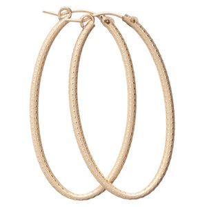 Enewton Design Simply Elegant Oval Hoop Gold