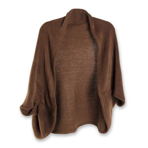 Dark Brown Cozy Shrug