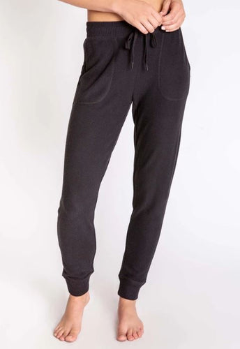 PJ Peachy Black Joggers