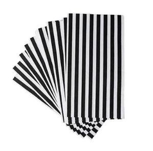 Black & White Guest Napkin