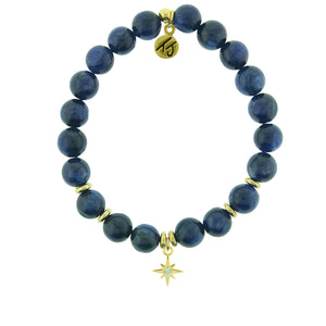 TJ Kyanite It's Your Year Gold Charm Bracelet