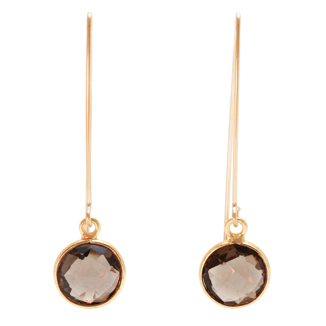 Enewton Design Regal Simplicity Gold Smokey Quartz Earrings