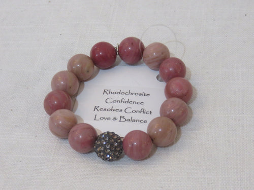 Power Beads by Jen Pave Purple Rhodochrosite