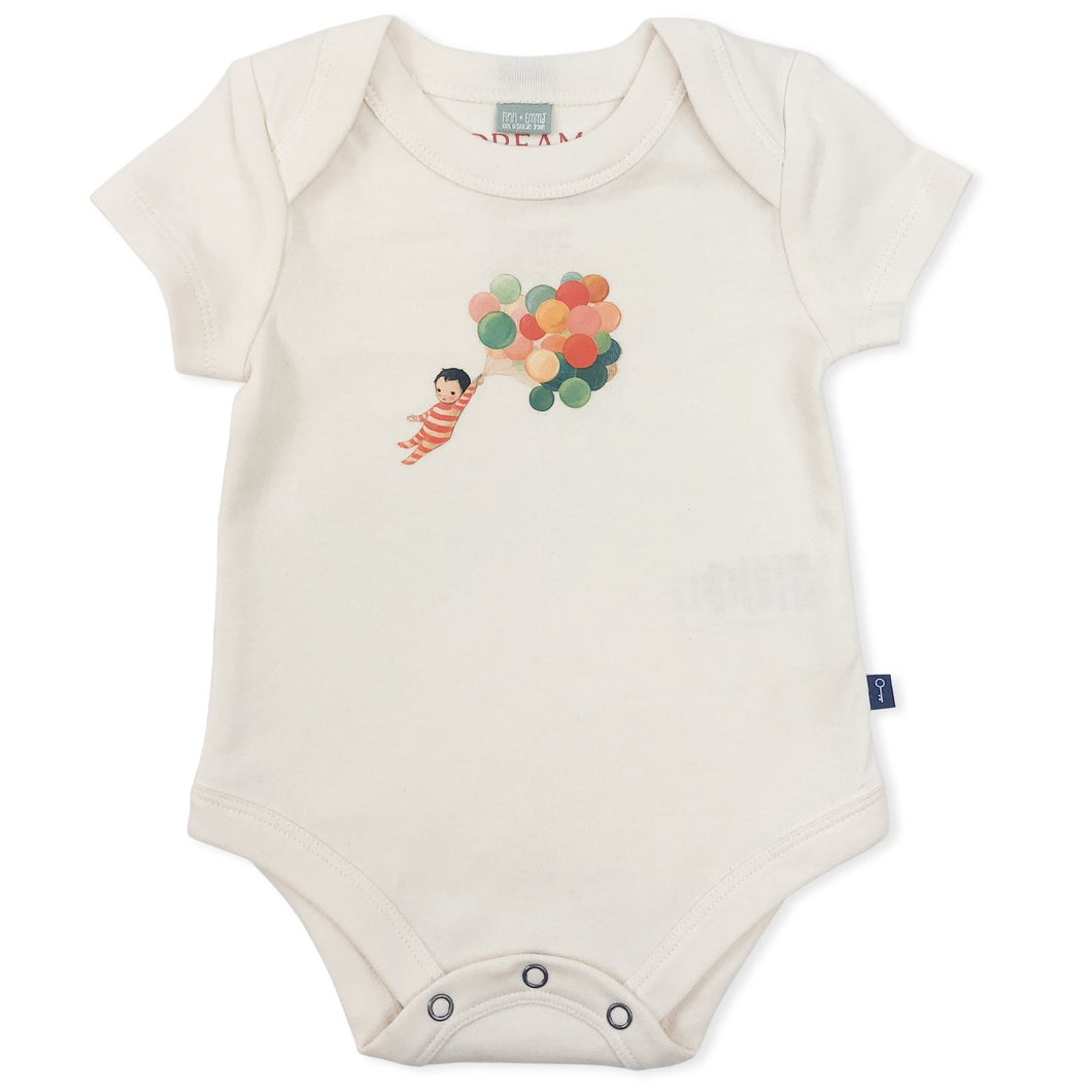 Finn + Emma Balloon Boy Bodysuit 0-3m