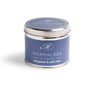 Bergamot & Soft Rose Tin Candle MD