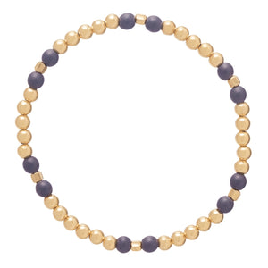 Enewton Design Essence 4MM Gold Bead Navy Bracelet