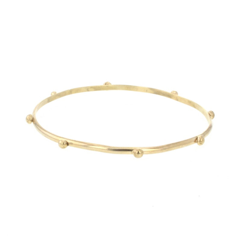 Lotus Gold Arcade Bangle