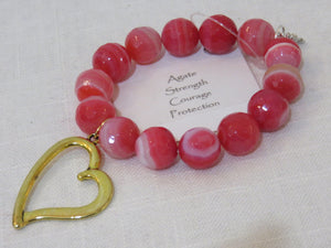 Power Beads by Jen Open Heart Agate