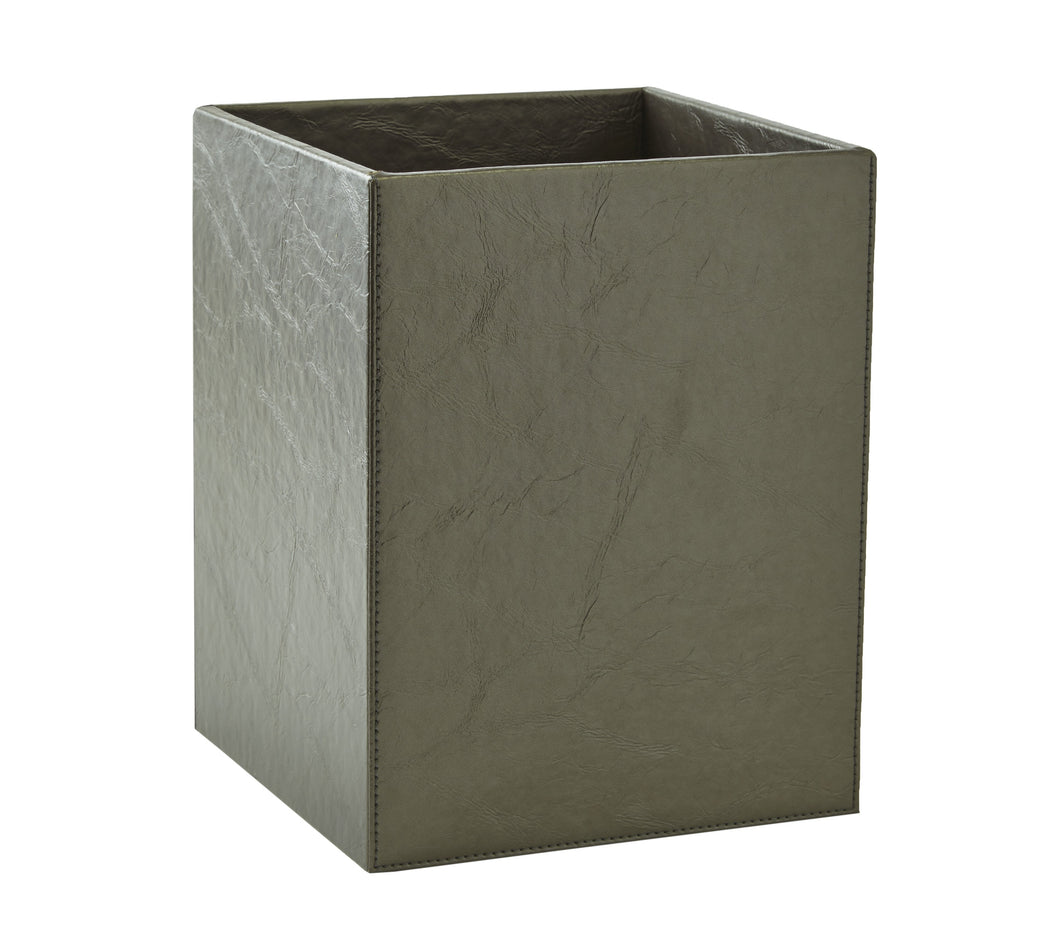 Kiyasa Papier Waste Basket in Platinum