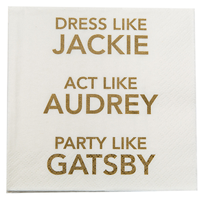 Dress like Jackie Napkin