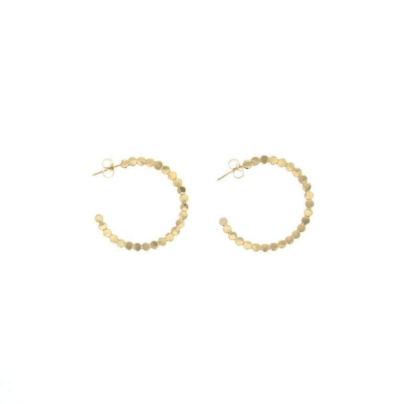 Lotus Gold Poppy Hoop Earrings