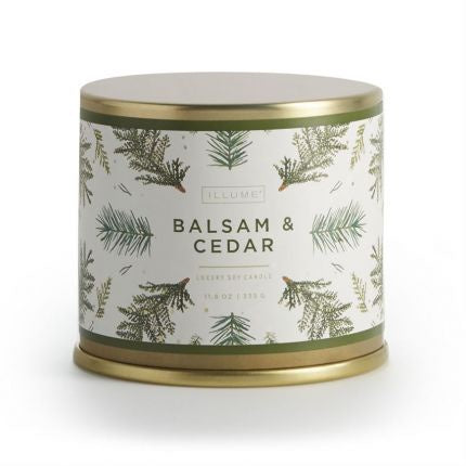 Illume Balsam & Cedar Large Tin
