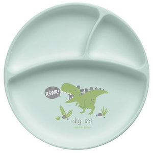 SJ Silicone Dino Baby Plate
