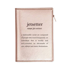 Mytagalongs Jetsetter Passport Case Rose Gold