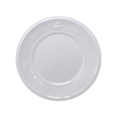 Le Cadeaux Bistro Bianco Salad Plate with Embossed Bee Design, Set of 4