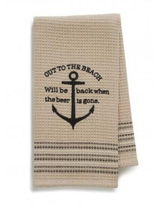 Out to the Beach Dish Towel