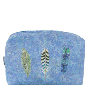 Designers Guild Lustro Washbag Blue, Large