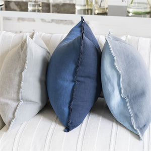 Designer's Guild Brera Toss Pillow, Marine Blue