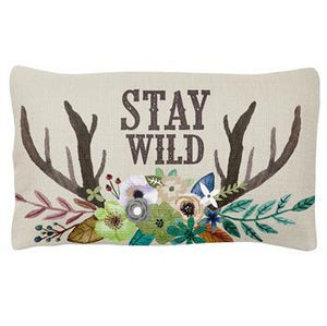 Karma Quote Lumbar Pillow, Stay Wild