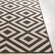 Surya Diamond Black & Cream Outdoor Area Rug