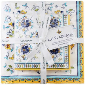 Le Cadeaux Florence Patterned Paper Cocktail & Dinner Napkins Gift Set