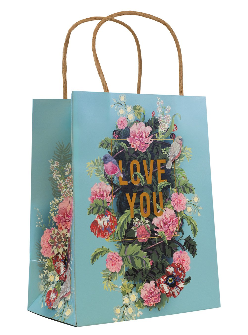 Papaya Art Gift Bag Foil, Bouquet For You