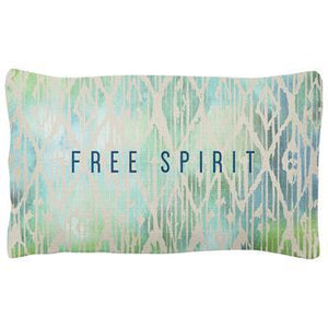Karma Quote Lumbar Pillow, Free Spirit
