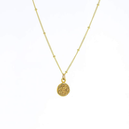 Luster Gold Druzy Necklace