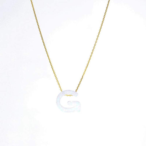 Gold Aurora Letter Necklace