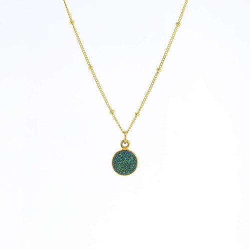 Luster Green Druzy Necklace