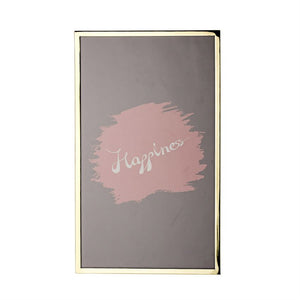 """Happiness"" Framed Metal Glass Wall Decor"
