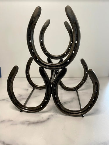 Industrial Wine Rack - Horse Shoes