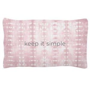 Karma Quote Lumbar Pillow, Keep It Simple