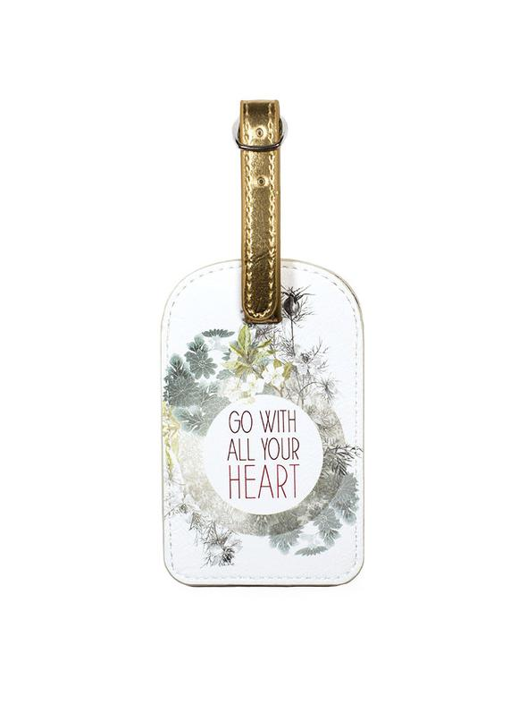 Papaya Art Luggage Tag 'All Your Heart'
