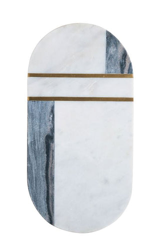 Marble & Brass Tray/Cutting Board