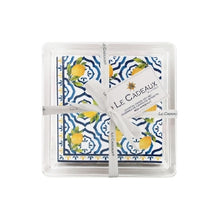 Le Cadeaux Palermo Patterned Paper Cocktail Napkins Gift Set