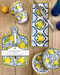 Le Cadeaux Lemon Basil Spoon Rest with Matching Tea Towel