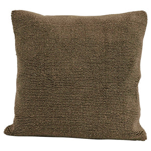 "18"" Square Cotton Terry Cloth Pillow, Olive Color"