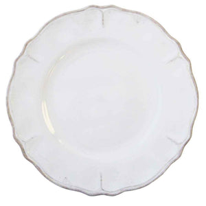 Le Cadeaux Rustica Antique White Dinner Plate, Set of 4