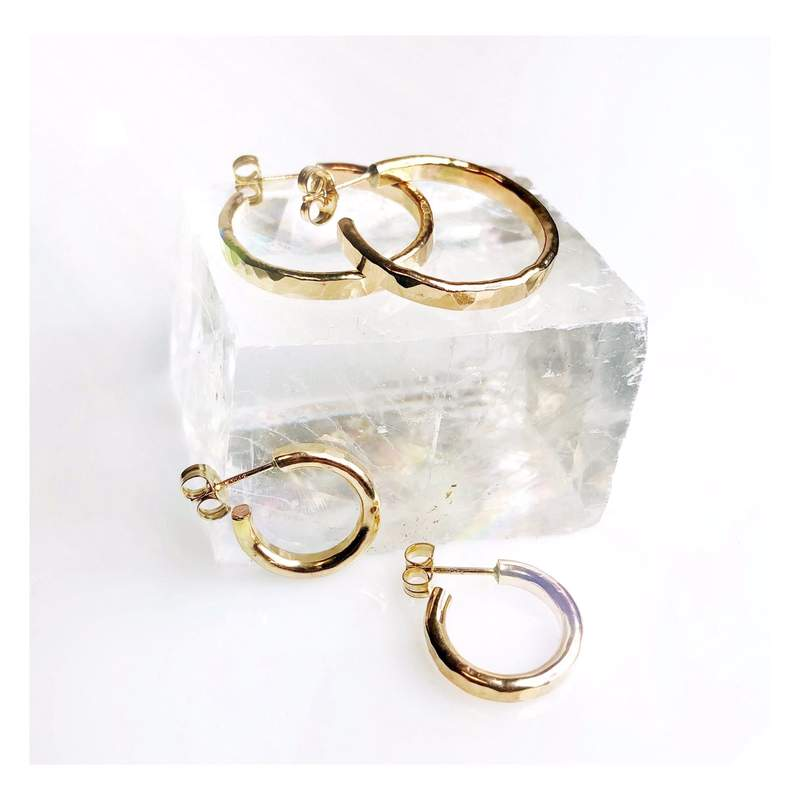 Gold Salina Hoop Earrings, Small