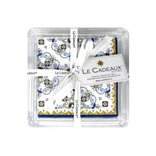 Le Cadeaux Sorrento Patterned Paper Cocktail Napkins Gift Set