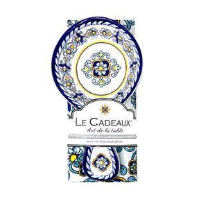 Le Cadeaux Sorrento Spoon Rest with Matching Tea Towel