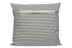 Square Cotton Striped Pillow, Grey