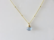 Gold Trinket Purple Mystic Topaz Stone Necklace