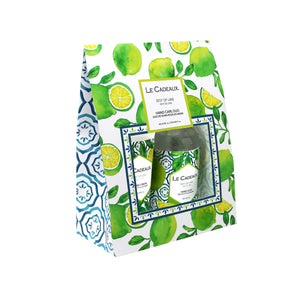 Le Cadeaux Zest Of Lime Hand Wash & Hand Cream in Gift Bag