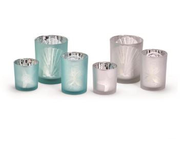 Set of 3 Shell Watercolors Candle Holder