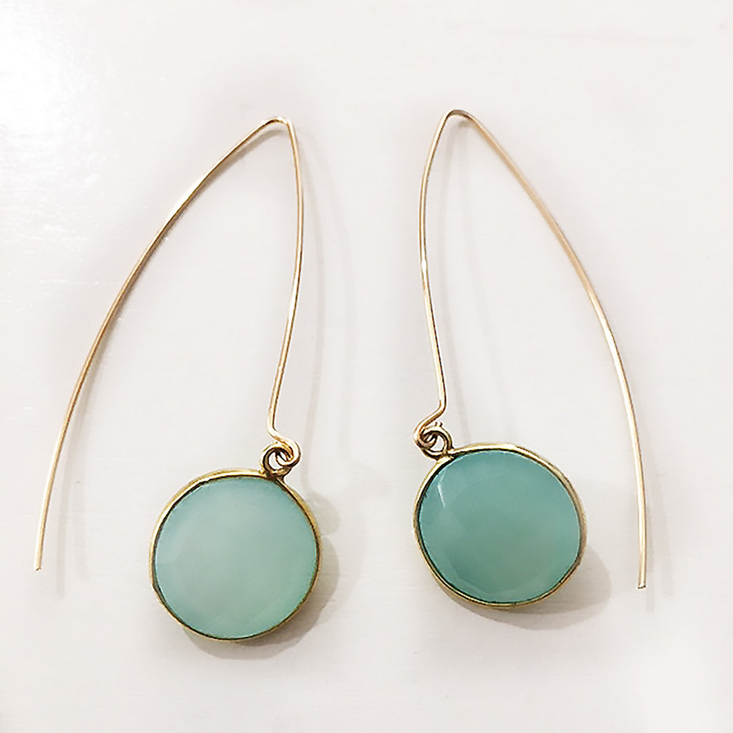 Enewton Design Regal Simplicity Green Chalcedony Earrings